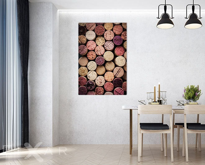 Wandbilder Esszimmer tüchtig zugekorkt poster und wandbilder fürs esszimmer bilder