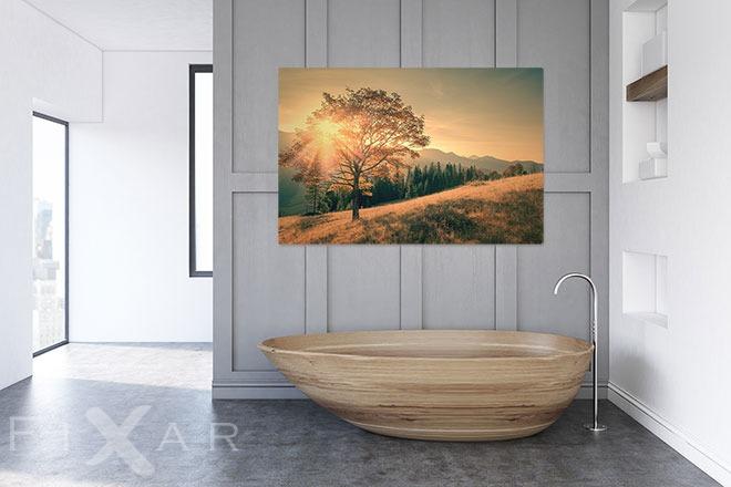 sch ne sonne ber das hochland poster und wandbilder f rs badezimmer bilder und poster. Black Bedroom Furniture Sets. Home Design Ideas