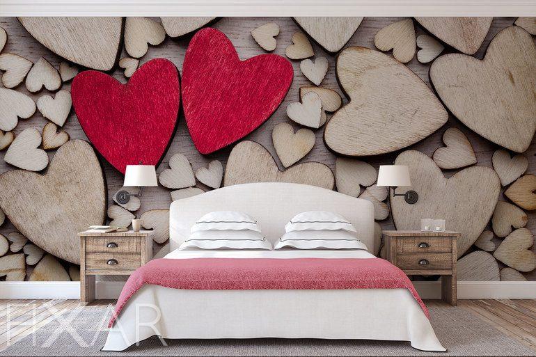 Die Liebe ist überall! - Fototapete für Schlafzimmer ...