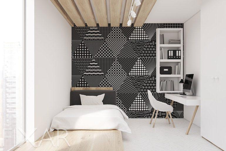 Die Geometrischen Impressionen Fototapete Für Schlafzimmer
