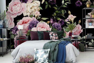 fototapeten blumen mit blumen. Black Bedroom Furniture Sets. Home Design Ideas