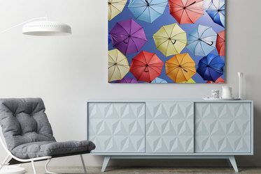 Poster moderne stilvolle loft interieur mit ziegelwänden weißen