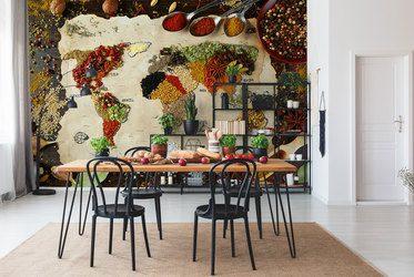 Fototapeten für die Küche: Laminierte, unter Schränke, Küchenfurnier ...