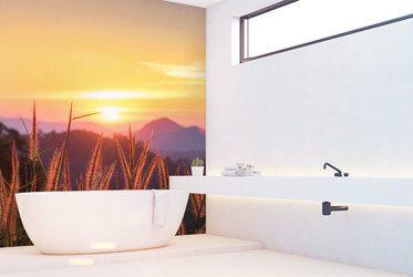 Bewunderung des Minimalismus - Fototapeten für Badezimmer ...